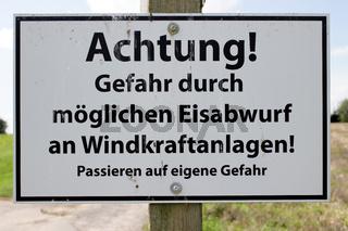 Warnschild im Saarland
