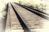 railroad tracks over river