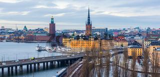 Stockholm Skyline im Januar