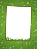 Ostern Grußkarte grün