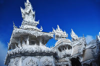 Architecture at Wat Rong Khun or the White Temple