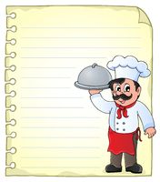 Notepad page with chef theme 1