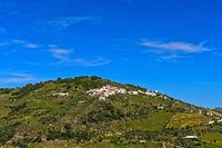 Blick auf den Ort Casal de Loivos im Weinbaugebiet Alto Douro