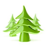 green pottery christmas tree