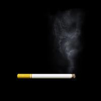 smoking cigarette side view