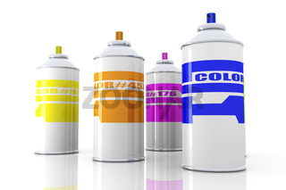 Color Aerosol Cans