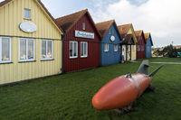 Fishing Huts on North Frisian Island Amrum in Germany