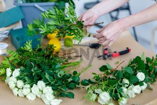 Photos flowers, florist at work