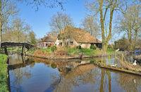 Village of Giethoorn near Ijsselmeer,Overijssel Province,Netherlands