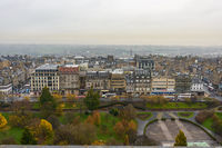 Edinburgh as seen from the castle in Scotland, UK