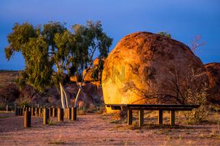 Devil's Marbles in Australian Outback