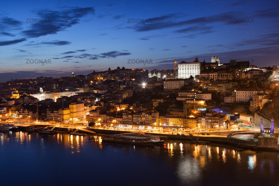 City of Porto Night Cityscape in Portugal