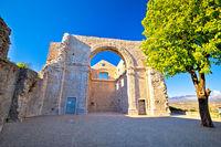 Crekvina ruins in town of Kastav view