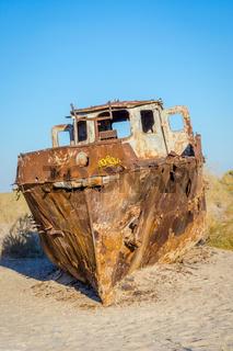 Ship cemetery, Aral Sea, Uzbekistan