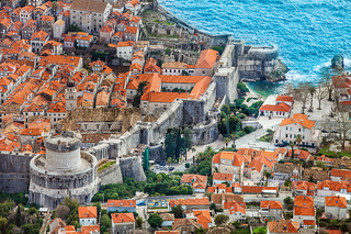 View of the old town of Dubrovnik Croatia