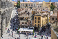 aerial views of the Spanish city of Segovia. Ancient Roman and medieval city