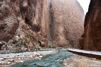 Todgha Gorge or Gorges du Toudra is a canyon in High Atlas Mountains near the town of Tinerhir