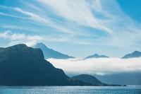 Haukland Beach auf den Lofoten in Norwegen
