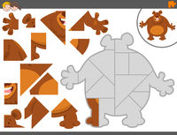jigsaw puzzle game with bear animal
