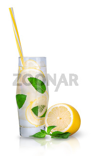 Lemonade with mint and ice