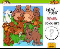 counting bears educational activity game