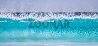 Crystal clear turquoise wave, seascape, Cape le Grand National Park, Western Australia