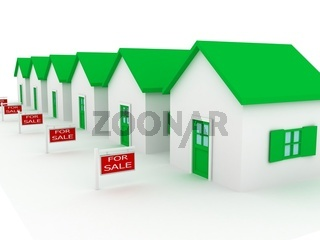 Group of houses on sale