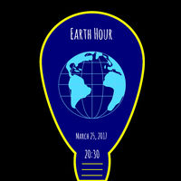 Earth Hour environmental movement illustration