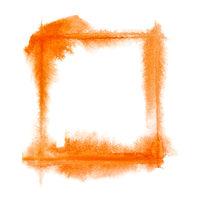 Square orange watercolor frame