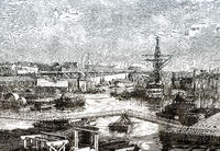 The harbour of Brest, France, 19th century