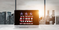Laptop for USA Independence Day