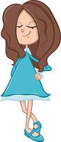 school girl cartoon character