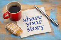share your story - napkin