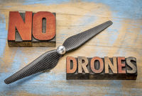 No drones sign or banner