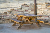 picnic table and shelter