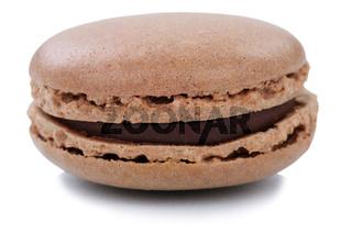 Schoko Macaron Macaroon Keks Nachtisch Dessert aus Frankreich Freisteller