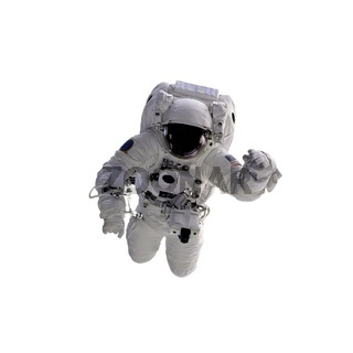 Astronaut on white