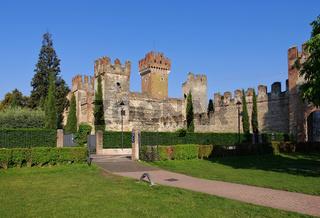 Lazise Burg - Lazise castle on Lake Garda in Italy