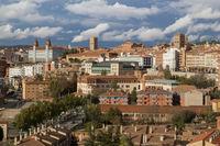 Teruel, Aragon, Spain. Aerial view of medieval city Teruel.