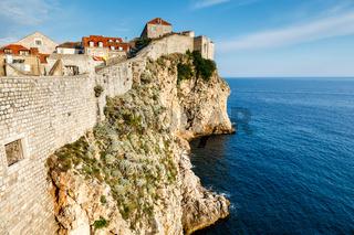 City of Dubrovnik and  its Defensive Wall in Dalmatia, Croatia