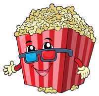 Stylized popcorn theme image 1