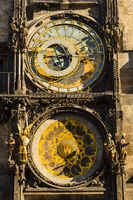 Astronomische Uhr am Rathausturm, Altstädter Ring, Altstadt, Prag, Böhmen, Tschechien, Europa