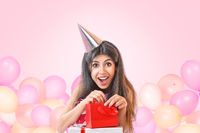 Young woman celebrating birthday