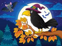 Witch crow theme image 2 - picture illustration.