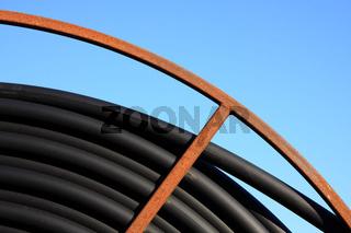 Ausschnitt einer Kabelrolle