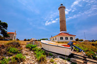 Veli Rat lighthouse and boat extraction tracks