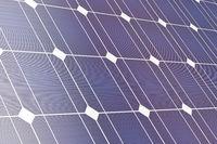 Closeup of solar panel