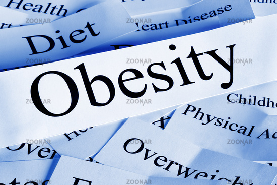 Obesity Concept - a conceptual look at obesity and some of its causes and problems.