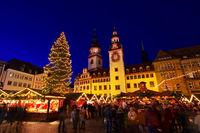 Chemnitz Weihnachtsmarkt - Chemnitz christmas market by night