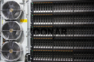 Serverschrank Rückseite Lüfter
